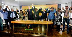 José Fortunati participa de reunião com Sebastião Melo, José Fogaça e outras lideranças políticas na sede do diretório municipal. FOTO: Jefferson Bernardes/Preview.com