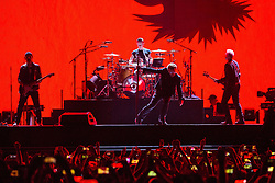 June 4, 2017 - Chicago, Illinois, U.S - THE EDGE, LARRY MULLEN JR., BONO and ADAM CLAYTON of U2 during 30th Anniversary of the The Joshua Tree Tour at Soldier Field in Chicago, Illinois (Credit Image: © Daniel DeSlover via ZUMA Wire)