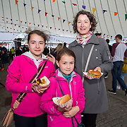 14.06.2018.             <br /> Limerick Food Group hosted the Urban Food Fest street food evening in the Milk Market on Thursday June 14th with a 'Summer Fiesta' theme in one big Limerick city summer party.<br /> <br /> Pictured at the event were, Sofie, Christina and Sandra O'Sullivan. Picture: Alan Place