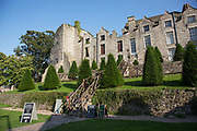 """Hay Castle and Mansion in Hay-on-Wye or Y Gelli Gandryll in Welsh, known as """"the town of books"""", is a small town in Powys, Wales famous for it's many second hand and specialist bookshops, although the number has declined sharply in recent years, many becoming general antique shops and similar."""
