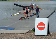 Glasgow, Scotland, Friday, 4th  August 2018, left GBR LM1X, Sam MOTTRAM and  GBR Rowing Coach Hamish BURRELL, The European Games, Rowing, Strathclyde Park, North Lanarkshire, © Peter SPURRIER/Alamy Live News