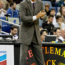 December 30, 2011; New Orleans, LA, USA; New Orleans Hornets head coach Monty Williams against the Phoenix Suns during the a game at the New Orleans Arena. The Suns defeated the Hornets 93-78.   Mandatory Credit: Derick E. Hingle-US PRESSWIRE