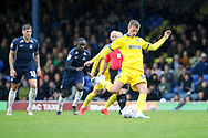AFC Wimbledon attacker Marcus Forss (15) scoring penalty to complete hat trick during the EFL Sky Bet League 1 match between Southend United and AFC Wimbledon at Roots Hall, Southend, England on 12 October 2019.