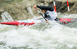 Jure Lenarcic of Slovenia competes during Canoe Single (C1) Men Final race of 2018 ICF Canoe Slalom World Cup 4, on September 1, 2018 in Tacen, Ljubljana, Slovenia. Photo by Vid Ponikvar / Sportida