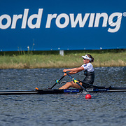 Hannah Osborne New Zealand Womens Single Scull<br /> <br /> Semi-Finals races at the World Championships, Sarasota, Florida, USA Friday 29 September 2017. Copyright photo © Steve McArthur / Rowing NZ
