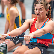 3:00 PM- Perry Group #32- Women?s 500m U16<br /> <br /> NZ Indoor Champs, raced at Avanti Drome, Cambridge, New Zealand, Saturday 23rd November 2019 © Copyright Steve McArthur / @rowingcelebration www.rowingcelebration.com