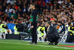March 2, 2019 - Madrid, Spain - FC Barcelona's coach Ernesto Valverde (R) during La Liga match between Real Madrid and FC  Barcelona at Santiago BernabÈu in Madrid..Final Score: Real Madrid 0 - 1 FC Barcelona (Credit Image: © Manu Reino/SOPA Images via ZUMA Wire)