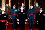 030321 King Felipe VI attends Military Audiences at Royal Palace