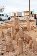 Sacred Pillars used as a prehistoric worshipping site  in the Uvda valley desert region have been dated to the Bronze age 6th–3rd Millennia BC