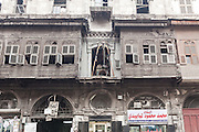 Old wooden Houses, Aleppo Streets, Syria