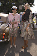 Lady Alexandra Gordon-Lennox and Sutetra Atkinson, Goodwood Revival Meeting. Saturday 17 September 2005.  ONE TIME USE ONLY - DO NOT ARCHIVE  © Copyright Photograph by Dafydd Jones 66 Stockwell Park Rd. London SW9 0DA Tel 020 7733 0108 www.dafjones.com