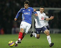 Photo: Lee Earle/Sportsbeat Images.<br /> Portsmouth v Tottenham Hotspur. The FA Barclays Premiership. 15/12/2007. Portsmouth's Niko Kranjcar (L) battles with Steed Malbranque.