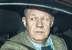 """© Licensed to London News Pictures. 01/12/2017. Ashford, UK. First Secretary of State DAMIAN GREEN seen leaving his Kent home. The findings of an inquiry in to the conduct of MP Damian Green are due to be released, following allegations that """"extreme"""" pornography was found on his computer during a police raid in 2018. Green was already under investigation for allegedly propositioning a former Tory activist, Kate Maltby. Photo credit: Peter Macdiarmid/LNP"""