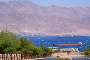 Panoramic view of the Bay of Eilat, Israel