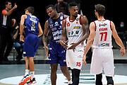 Frank Elegar Kyzlink Tomas<br /> UnaHotels Reggio Emilia Happy Casa Brindisi<br /> Legabasket Serie A UnipolSAI 2020/2021<br /> Bologna, 11/10/2020<br /> Foto A.Giberti / Ciamillo-Castoria