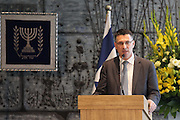 "Gideon Sa'ar Israeli minister of Education at Beit HaNassi (""President's House""),"
