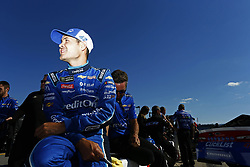 July 20, 2018 - Loudon, New Hampshire, United States of America - Kyle Larson (42) prepares to take to the track to qualify for the Foxwoods Resort Casino 301 at New Hampshire Motor Speedway in Loudon, New Hampshire. (Credit Image: © Justin R. Noe Asp Inc/ASP via ZUMA Wire)