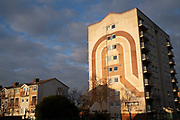 Social housing estate tower block in Highgate on 7th January 2021 in Birmingham, United Kingdom. Following the Big City Plan of February 2008, Highgate is now a district of Birmingham City Centre, yet is a very poor area of housing estates, lacking in investment.