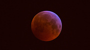 View from Paris Belleville of a Super Wolf Blood Moon Eclipse. A lunar eclipse happens when the moon passes directly behind the Earth so that the sun, moon, and Earth become exactly or very closely aligned.<br /><br />The moon's path around Earth is slightly out of plane with our planet's orbit around the sun, which explains why total lunar eclipses are relatively uncommon; things have to line up just right<br /><br />January 21st 2019