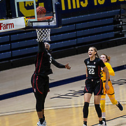 Dec 13, 2020 Berkeley, CA  U.S.A.   Stanford Cardinal forward Francesca Belibi (5) slam dunk off the fast break during the NCAA Women's Basketball game between Stanford Cardinal and the California Golden Bears 83-38 win at Hass Pavilion Berkeley Calif.  Thurman James / CSM