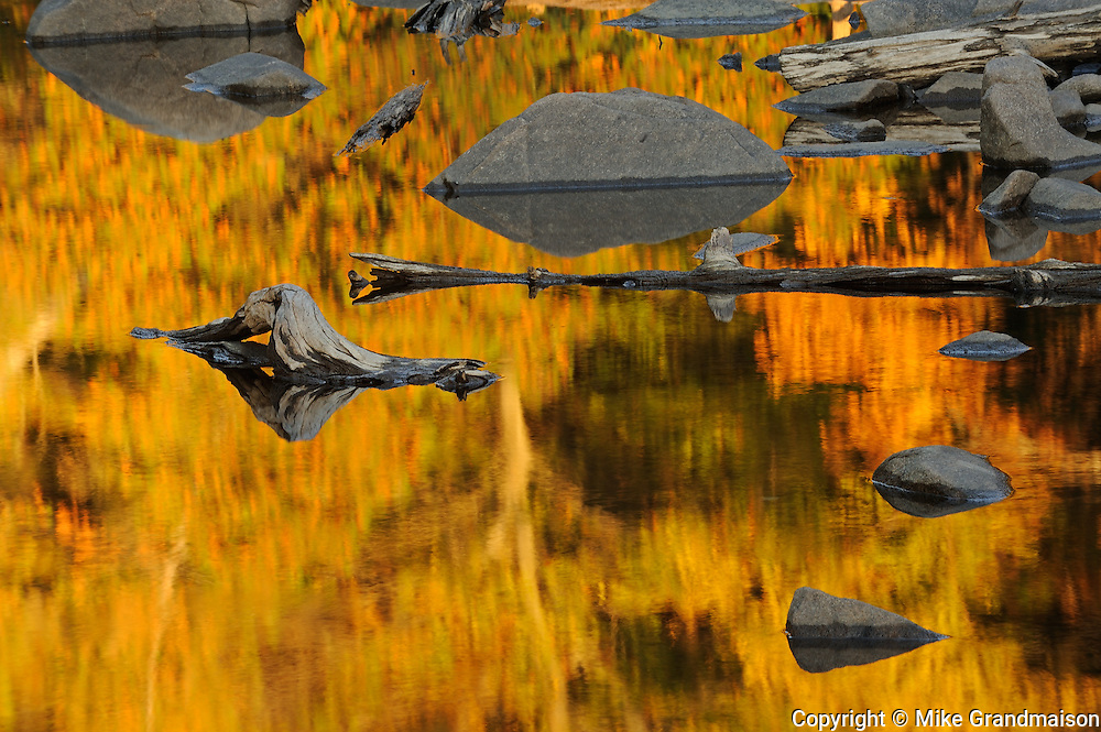 Autumn reflection on Paudash Lake<br /> Paudash Lake<br /> Ontario<br /> Canada