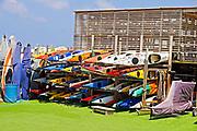 Kayaks at the Herzliya Yacht club, Israel