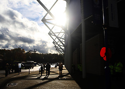 General view of Remembrance Day poppies around the King Power Stadium  - Mandatory byline: Jack Phillips/JMP - 07966386802 - 7/11/2015 - SPORT - FOOTBALL - Leicester - King Power Stadium - Leicester City v Watford - Barclays Premier League