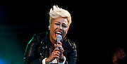 The Olympic Torch arrives in Aberdeen.Pictured Emeli Sandé .(Photo Ross Johnston /  Newsline Scotland)