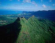 Mt. Olomana, Waimanalo, Oahu, Hawaii<br />