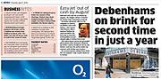The Metro newspaper cutting