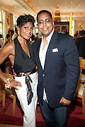 24 June 2010- Miami Beach, Florida- l to r: Jocelyn Taylor and Todd Bolden at the The 2010 American Black Film Festival Founder's Brunch held at Emeril's on June 24, 2010. Photo Credit: Terrence Jennings/Sipa
