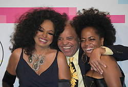 November 19, 2017 - Los Angeles, California, U.S - (L-R) Diana Ross, Berry Gordy, and Rhonda Ross Kendrick pose in the Press Room of the 2017 American Music Awards held on Sunday, November 19, 2017 at the Microsoft Theatre in Los Angeles, California. (Credit Image: © Prensa Internacional via ZUMA Wire)