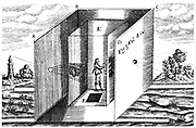 Camera Obscura. From Athanasius Kircher 'Ars Magna', Amsterdam, 1671.