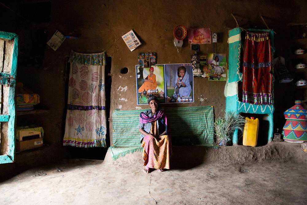 Menschen für Menschen: Visiting a Micro Financing project.<br /> <br /> Wife: Vilma Yegoraw (40)