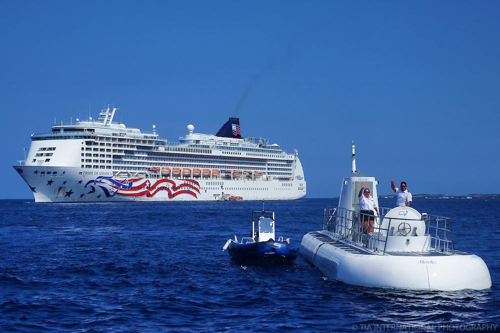 Pride of America (Norwegian Cruise Line) and Atlantis Submarine, Kona