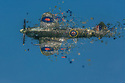 Digitally enhanced image of a Royal Air Force Supermarine spitfire in flight