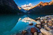 Dawn light on Lake Louise, Banff National Park, Alberta, Canada
