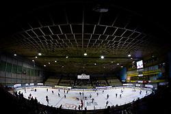 Warming up before the 14th Round of EBEL league  ice hockey match between HK Acroni Jesenice and HDD Tilia Olimpija Ljubljana, on October 16, 2009, in Arena Podmezaklja, Jesenice. (Photo by Vid Ponikvar / Sportida)