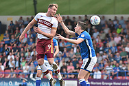 Bradford City forward Charlie Wyke (9)  during the EFL Sky Bet League 1 match between Rochdale and Bradford City at Spotland, Rochdale, England on 21 April 2018. Picture by Mark Pollitt.