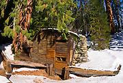 Tharp's Log in winter, Giant Forest, Sequoia National Park, California