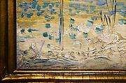 Nederland, Maastricht, 16-3-2014 Tefaf, The European Fine Art Fair in het MECC. Dit is de grootste kunstbeurs in Europa en ter wereld. 27e editie. Onder de topstukken bevindt zich een werk uit de sleutelperiode van Vincent van Gogh, dat volgens deskundigen minstens 10 miljoen euro moet opbrengen, het schilderij Moulin de la Galette. Bij kunsthandel Dickinson. De handtekening van de kunstenaar.signatureFoto: Flip Franssen/Hollandse Hoogte