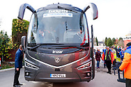 Portsmouth coach arrives during the EFL Sky Bet League 1 match between Accrington Stanley and Portsmouth at the Fraser Eagle Stadium, Accrington, England on 27 October 2018.