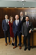 SHOT 1/8/19 12:13:40 PM - Bachus & Schanker LLC lawyers James Olsen, Maaren Johnson, J. Kyle Bachus, Darin Schanker and Andrew Quisenberry in their downtown Denver, Co. offices. The law firm specializes in car accidents, personal injury cases, consumer rights, class action suits and much more. (Photo by Marc Piscotty / © 2018)