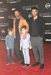December 10, 2016 - Los Angeles, CA, United States of America - Ricky Martin (L), Carlos González Abella and sons arriving at the Star Wars ''Rogue One'' World Premiere at the Pantages Theater on December 10 2016 in Hollywood, CA  (Credit Image: © Famous/Ace Pictures via ZUMA Press)