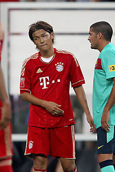 27.07.2011, Allianz Arena, Muenchen, GER, Audi Cup 2011, Finale,  FC Barcelona vs FC Bayern , im Bild  Takashi Usami (Bayern #14) enteuscht// during the Audi Cup 2011,  FC Barcelona vs FC Bayern  , on 2011/07/27, Allianz Arena, Munich, Germany, EXPA Pictures © 2011, PhotoCredit: EXPA/ nph/  Straubmeier       ****** out of GER / CRO  / BEL ******