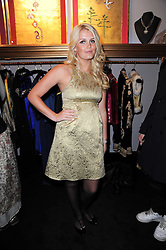 LADY KITTY SPENCER wearing Burberry at the opening of Jade Jagger's shop at 43 All Saints Road, London W11 on 25th November 2009.