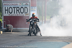 Great Lakes Dragaway in Union Grove was the place for Run What You Brung side-by-side drag racing during the Harley-Davidson 115th Anniversary Celebration event. WI. USA. Friday August 31, 2018. Photography ©2018 Michael Lichter.