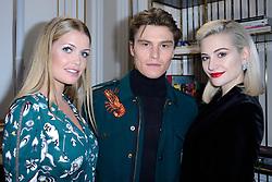 Lady Kitty Spencer, Pixie Lott and her fiance Oliver Cheshire attending the Schiaparelli show as part of Paris Haute Couture Fashion Week Spring/Summer 2018-2019 on January 22, 2018 in Paris, France. Photo by Aurore Marechal/ABACAPRESS.COM