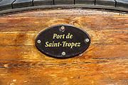 Saint-Tropez, France. Port and Yacht club