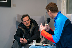 Bas van de Goor and alderman for sports Ben van Hees of the municipality of Tiel take a walk and discuss the approach to the NDC after the corona crisis on April 14, 2021 in Tiel